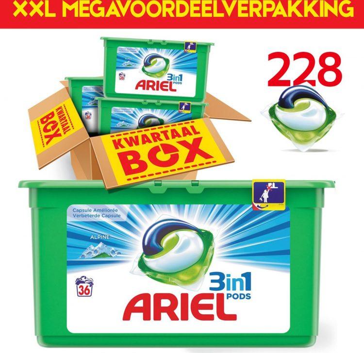 Megavoordeelpakket Ariel 3in1 PODS 228x